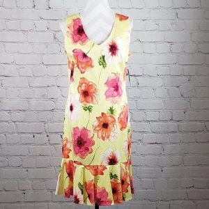 NWT Courtenay Size 10 Vintage Yellow Floral Dress